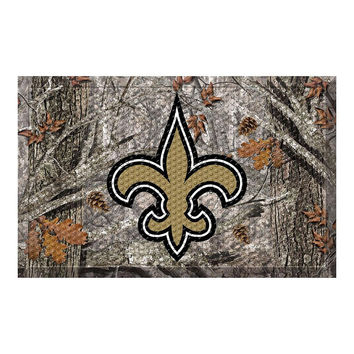 NEW ORLEANS SAINTS SCRAPER DOORMAT (19X30)