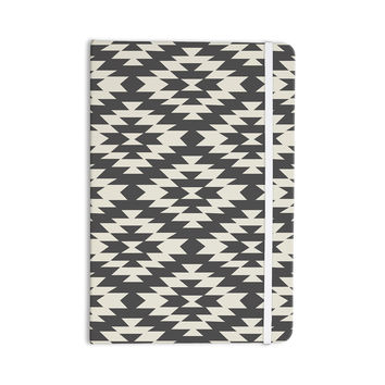 "Amanda Lane ""Southwestern Black Cream"" Tribal Geometric Everything Notebook"