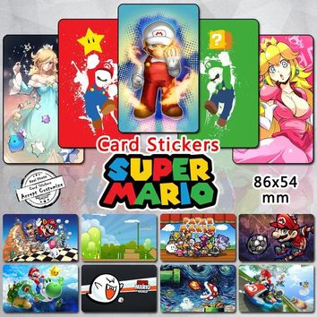 Super Mario party nes switch 35pcs  Bros Series Card Stickers Classic Video Game Character  Luigi Yoshi Princess Peach Rosalina Collectible Sticker AT_80_8