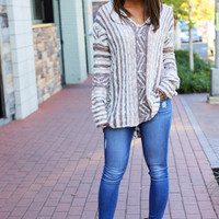 Cocoa Cluster Hooded Sweater