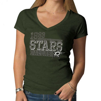 Dallas Stars '47 Brand Women's V-Neck Scrum T-Shirt - Green