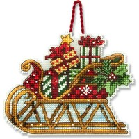 SLEIGH ORNAMENT - Counted Cross Stitch Kit