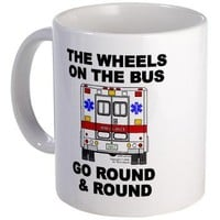 Ambulance Wheels Go Round Mug> Ambulance Wheels Go Round> Terry Kepner's Design Oddities