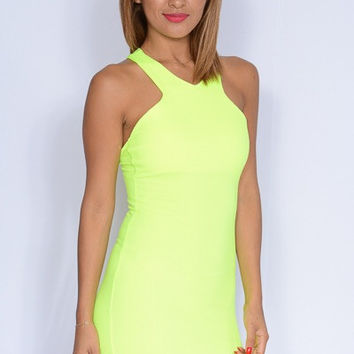 Neon Nights Dress - Yellow