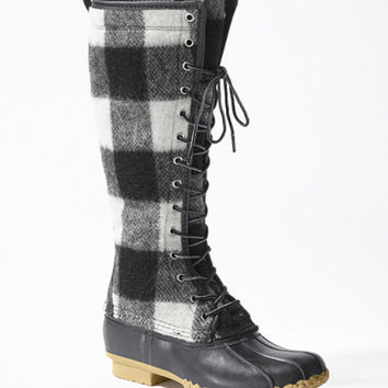 Signature Wool Bean Boot, Buffalo-Check 16 and quot;: Footwear | Free Shipping at L.L.Bean