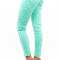 West Coast Wardrobe Spot on the Polka Dot Skinny in Mint