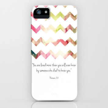 Romans 5:8 iPhone & iPod Case by PrintableWisdom