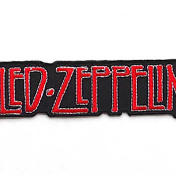 Led Zeppelin Applique Iron on Patch Size 10.6 x 3.3 cm