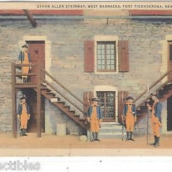 Ethan Allen Stairway,West Barracks-Fort Ticonderoga,New York