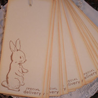 Baby Shower Wish Tree Tags Bunny Set of 25