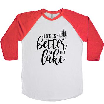 Life Is Better At The Lake Unisex Baseball Tee