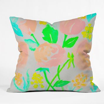 Rebecca Allen Blossom Dearie Throw Pillow