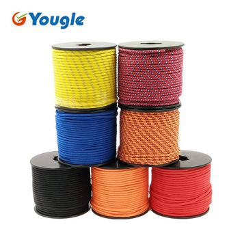 YOUGLE  5Strand 350 Paracord Parachute Cord Lanyard Rope Mil Spec  Climbing Camping Knitted Bracelet survival equipment 164FT
