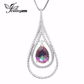 Natural Mystic Fire Rainbow Topaz Pendent in Genuine Solid 925 Sterling Silver