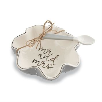 Mr And Mrs Ceramic Candy Dish Set by Mudpie