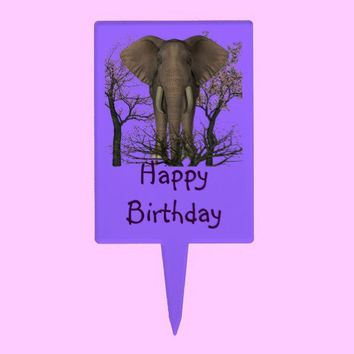 Special  Birthday Person Elephant Cake Toppers from Zazzle.com
