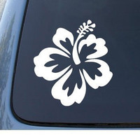 HIBISCUS FLOWER - Hawaiian - Cute Car Decal Sticker 1065