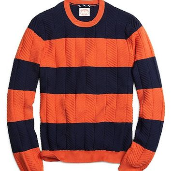 Men's Bold Striped Crewneck Sweater