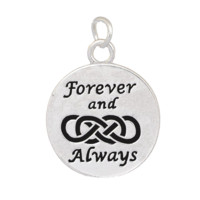 Charm to Add to Expandable Bangle Bracelet Forever and Always Double Infinity