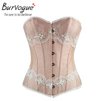 Burvogue Waist Control Corsets and Bustiers Sexy Women Overbust Plus Size Corset Gothic Corselet Lace Up Body Shaper For Women