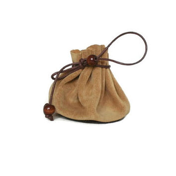 Drawstring leather pouch, Coin Purse, beige, small leather pouch, leather jewelry box, tobacco pouch, leather pouch bag, money and key pouch