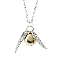 Harry Potter Golden Snitch Charm Necklace Quidditch