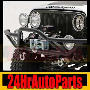 JEEP WRANGLER TJ YJ Front Rock Crawler Guard Bumper 87-06 ROCK NEW+ 2x D-Ring