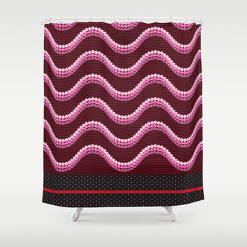 Sequins and Snakes Shower Curtain by Octavia Soldani