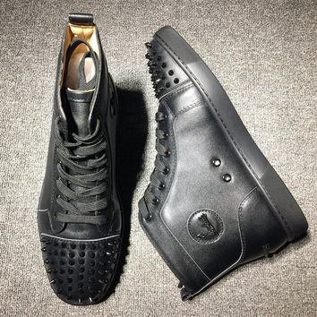 Cl Christian Louboutin Lou Spikes Style #2183 Sneakers Fashion Shoes