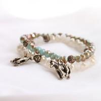 Antique Crystal Zebra Bracelet