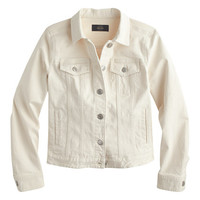 J.Crew Womens Denim Jacket In Ecru Wash
