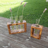 Flower Glass tube Holder Test tubes  wedding centre piece decor table top decor