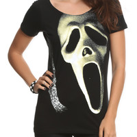 Scream Mask Slash-Back Girls Top