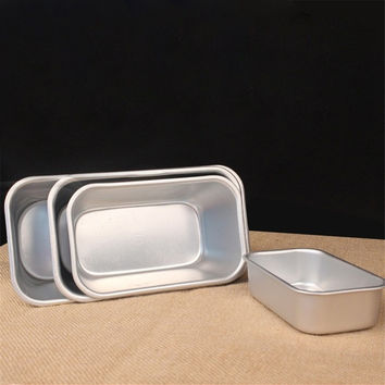 3 Sizes DIY Aluminium Christmas Birthday Chiffon Cake Cheese Square Mold Bake Pan Tools = 1704265028