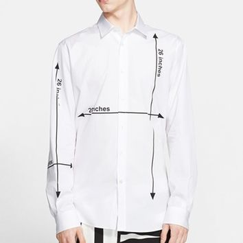 Men's Moschino 'Measurement' Trim Fit Sport Shirt,