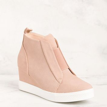 All Day Blush Slip On Wedge Sneaker