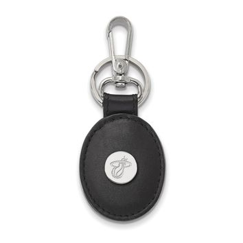 NBA Miami Heat Leather Key Chain with Sterling Silver