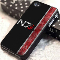N7 mass effect customized for iphone 4/4s/5/5s/5c, samsung galaxy s3/s4, and ipod touch 4/5