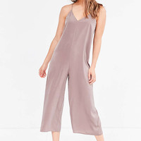 Silence + Noise Satin Slip Culotte Jumpsuit - Urban Outfitters