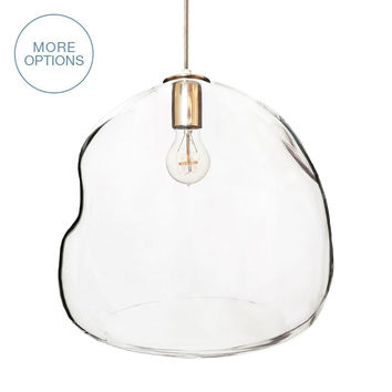 "16"" Bubble Hand Blown Glass Chandelier Pendant Light"
