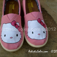Hello Kitty Custom TOMS Shoes - YOUTH