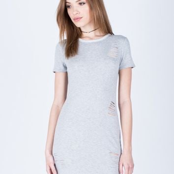 Soft Destroyed Tee Dress
