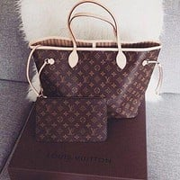 shosouvenir : LV Women Shopping Leather Tote Handbag Shoulder Bag