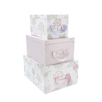 Esme Pink/Multi Storage Boxes With Lids at LAURA ASHLEY