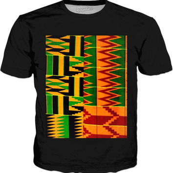 Mixed Kente Cloth Classic Style T-shirt