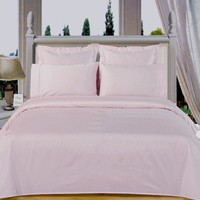 "White 550TC Olympic Queen Solid Bed in A Bag 90x92"" Combed cotton With Down Alternative Comforter"