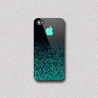 Mint Sparkle - Print on Hard Cover for iPhone 4/4s, iPhone 5/5s, iPhone 5c - Choose the option in right side