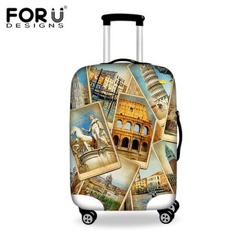 Vintage Elastic Luggage Protective Covers For 18-30 Inch Travel Trolley Case,Thick Waterproof Dust Proof Suitcase Rain Cover