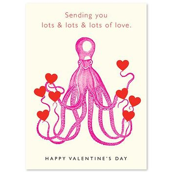 Valentine's Day Octopus Card