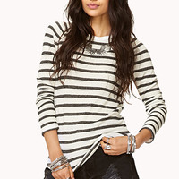 Striped Ruched Sleeve Top | FOREVER 21 - 2000049748
